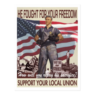 He Fought For Your Freedom -- Pro-Union Postcard