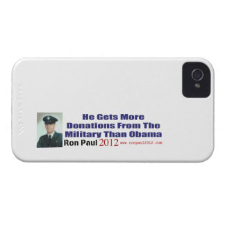 He Gets More Donations From Military Than Obama iPhone 4 Cover