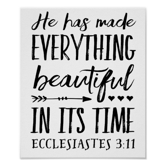 He had made everything beautiful Art Poster