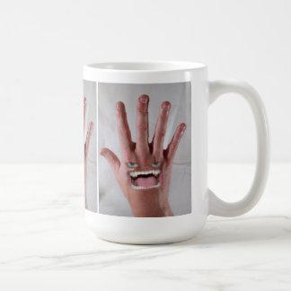 He Has a Mean Backhand! Basic White Mug