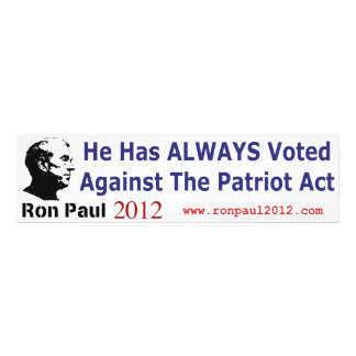 He Has Always Voted Against The Patriot Act Photo Print