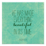 He has made everything beautiful bible verse poster