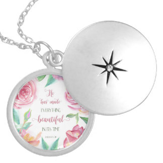 He Has Made Everything Beautiful Ecclesiastes 3:11 Locket Necklace
