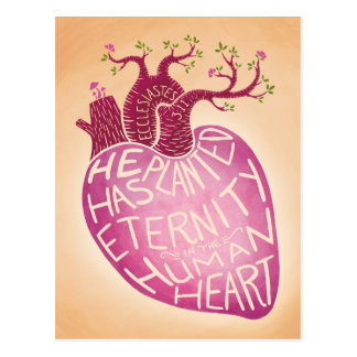 He Has Planted Eternity in the Human Heart Postcard