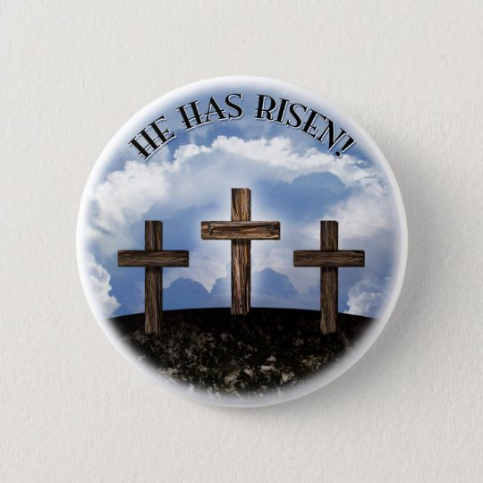 He Has Risen 3 Rugged Crosses 6 Cm