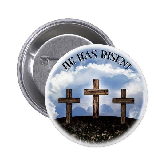 He Has Risen 3 Rugged Crosses 6 Cm
