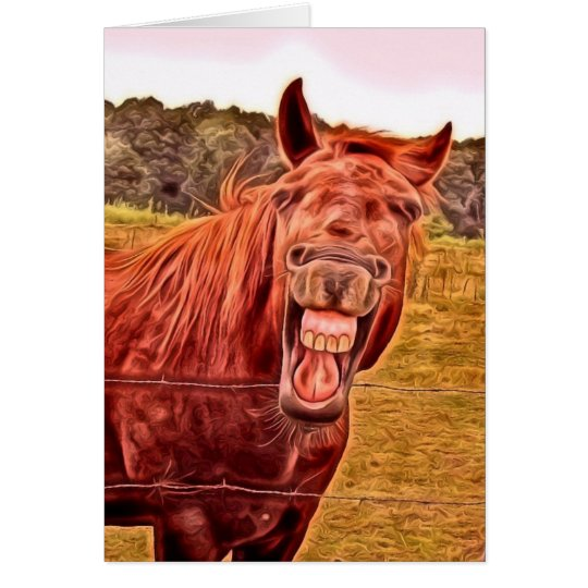 He Haw You're 50!! Horse Happy Birthday Card