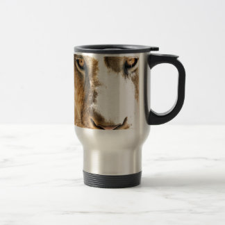 He is gonna steal your soul stainless steel travel mug