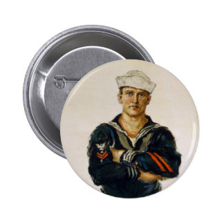 He is Keeping the World Safe for Democracy 6 Cm Round Badge