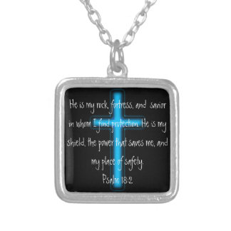 He is my rock and shield Psalm 18:2 Necklace