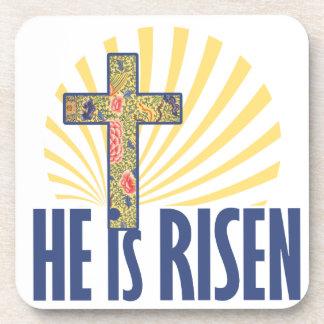 He is risen beverage coasters