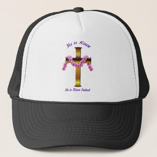 He is RisenCap. Trucker Hat