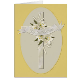 He is Risen Cross Christian Easter Greeting Card