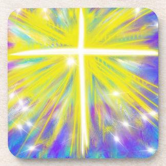 He is Risen Easter Christian Modern Art Design Coaster