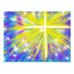 Christian easter gifts gift ideas zazzle uk he is risen easter christian modern art design postcard negle Images