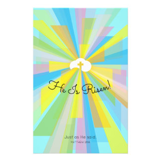 He Is Risen Easter Service Invitations Flyer