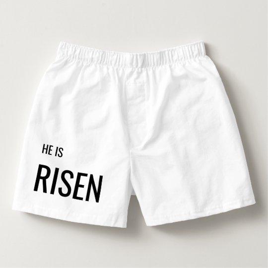 HE IS RISEN - Funny Jesus Underwear Boxers