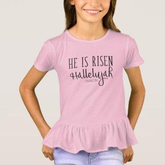 He is Risen Girls Hallelujah Christian Top Easter