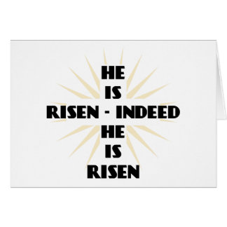 He Is Risen - Indeed He Is Risen Card