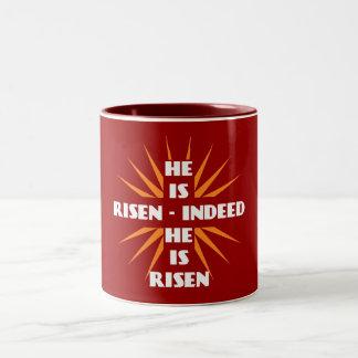 He Is Risen - Indeed He Is Risen Two-Tone Coffee Mug