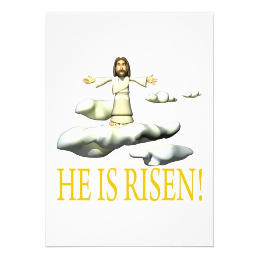 He Is Risen Personalized Invitation