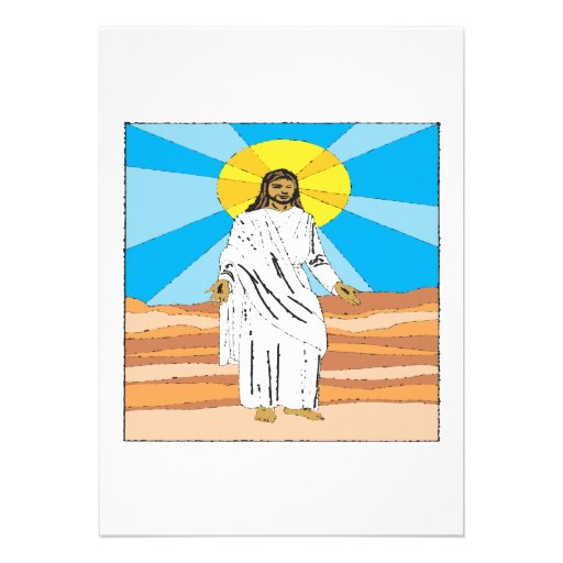He Is Risen Personalized Announcement