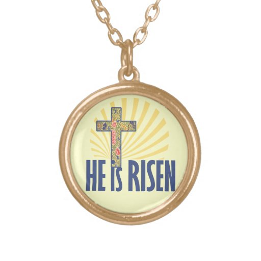 He is RISEN on Easter Personalized Necklace