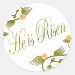 He is Risen Round Sticker
