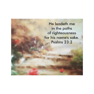 He Leadeth Me Wrapped Canvas Canvas Prints
