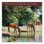 He leads me beside the still waters ... print