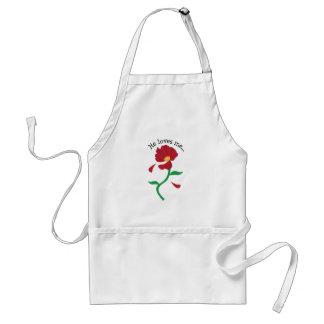 He Loves Me Apron