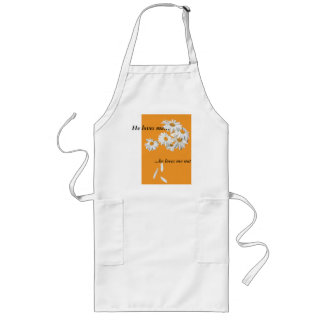He loves me… he loves me not long apron