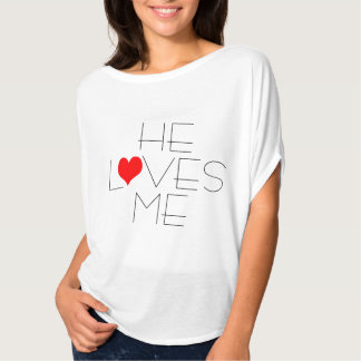He Loves Me Heart Valentine's Day T-shirt