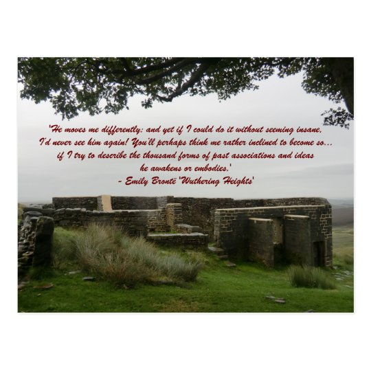 He Moves Me Differently - Wuthering Heights Postcard