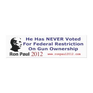 He Never Voted For Restriction on Gun Ownership Stretched Canvas Print
