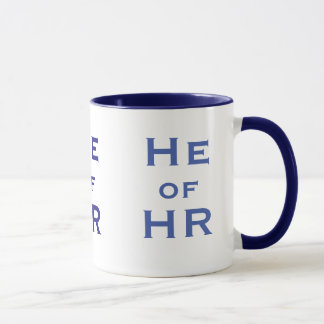 He of HR Funny Male Human Resources Joke Man Name Mug