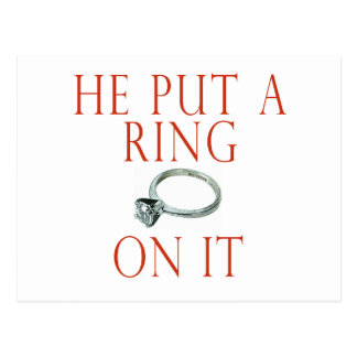 He Put a Ring On It Bride Postcard