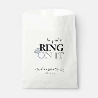 He Put a Ring On It Favour Bags