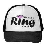 He Put a Ring on it - for the Bride to be Cap