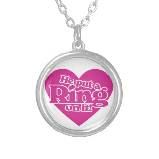 He put a ring on it round pendant necklace