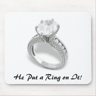 He Put A Ring On It/Save the Date Mouse Mat