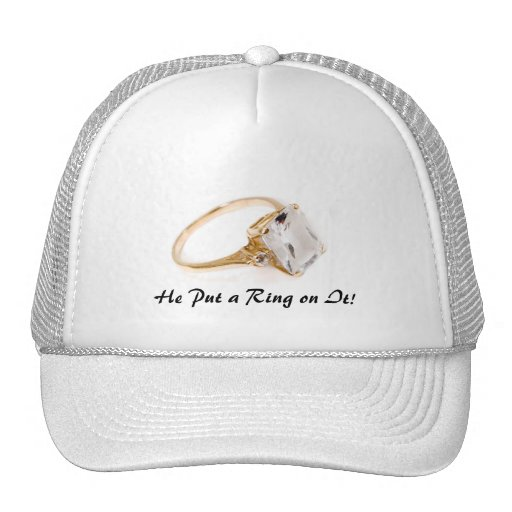 He Put a Ring on It/Save the Date Trucker Hat