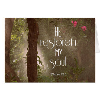 He restoreth my Soul Bible Verse Card