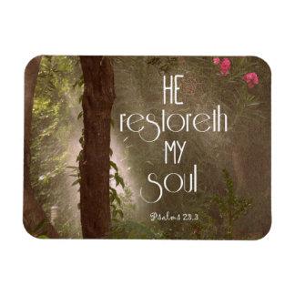 He restoreth my Soul Bible Verse Flexible Magnet