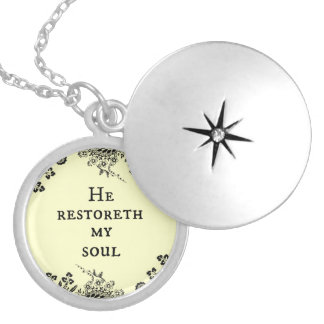 He restoreth my Soul Bible Verse Scripture Personalized Necklace