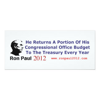 He Returns The Budget Money He Doesn't Use 10 Cm X 24 Cm Invitation Card