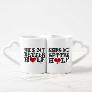 He s my better half She s my better half Lovers Mug Set