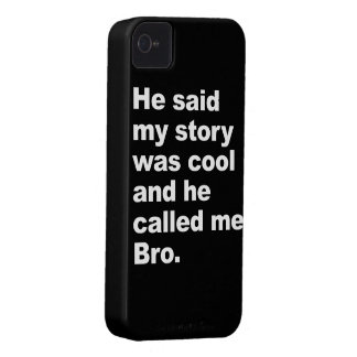 He said my story was cool iPhone 4 cover