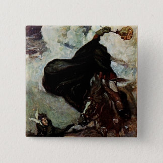 He Saw The Goblin Rising 15 Cm Square Badge