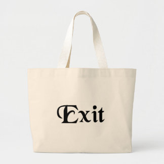 He/she goes out. canvas bag
